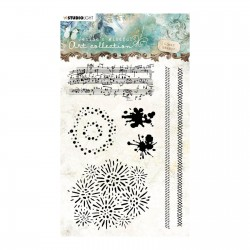 Studio Light • Clear stamp A6 Jenine's mindful art nr.03