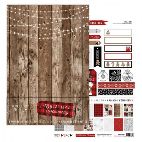 FLORILEGES DESIGN Kit collection CHRISTMAS COCOONING, FORMAT A4