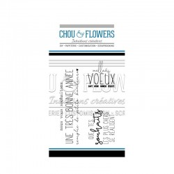 CHOU & FLOWERS TAMPONS CLEAR HOLLY JOLLY - MES VOEUX