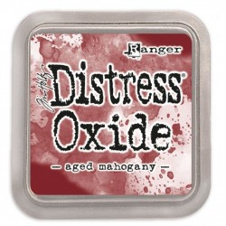 Tim Holtz distress oxide AGED MAHOGANY