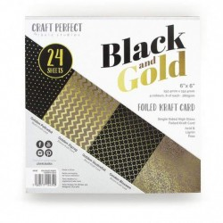 "Tonic Studios • Craft perfect foiled 6x6"" black & gold"