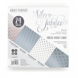"Tonic Studios • Craft perfect foiled 6x6"" silver jubilee"