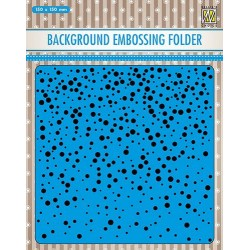 NELLIES CHOICE EMBOSSING FOLDER BACKGROUND SNOW