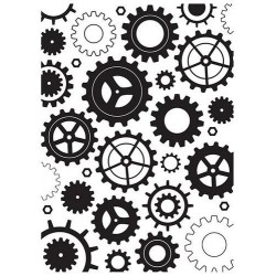 NELLIES CHOICE EMBOSSING FOLDER COGWHEELS