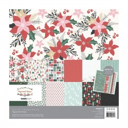 KAISERCRAFT PEPPERMINT KISSES COLL PACK, 30,5 X 30,5 CM, 12