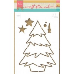 MARIANNE DESIGN CRAFT STENCIL CHRISTMAS TREE by Marleen