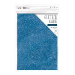 Tonic Studios GLITTER CARDSTOCK COBALT BLUE A4