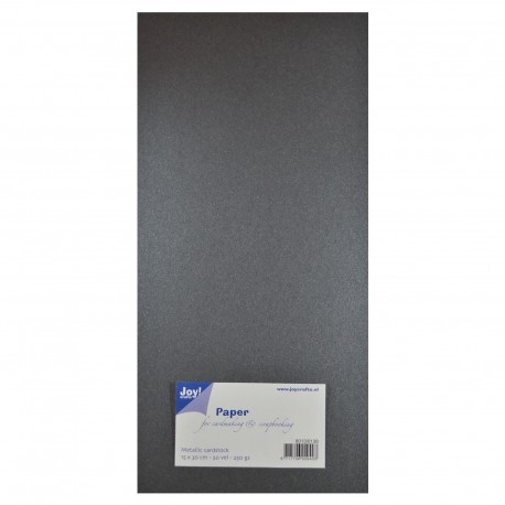 JOYCRAFTS! PAPER FOR CARDMAKING & SCRAPBOOKING, GRIS METALLIC