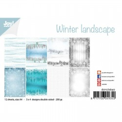 JOYCRAFTS! PAPER WINTER LANDSCAPE, PAPER PACK A4