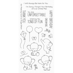 MFT aDORABLE ELEPHANTS CLEAR STAMPS