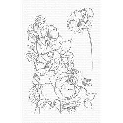 MFT ROSE GARDEN CLEAR STAMPS