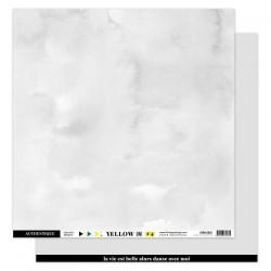 FLORILEGES DESIGN  Papier uni gris doux, 30,5 x 30,5 cm