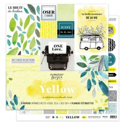 FLORILEGES DESIGN KIT IMPRIMES, 30,5 x 30,5 cm YELLOW