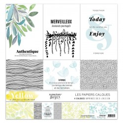 FLORILEGES DESIGN KIT CALQUES YELLOW