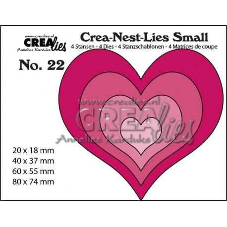 Crealies Crea-Nest-dies HEARTS 4 dies