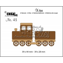 Crealies XTRA wagon train small, 6 dies