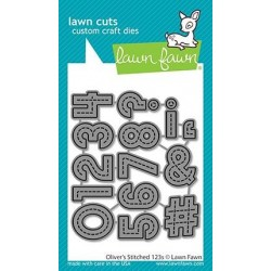 LAWN FAWN CUTS  OLIVERS STITCHED 123s