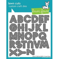 LAWN FAWN CUTS  OLIVERS STITCHED ABCs
