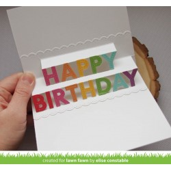 LAWN FAWN CUTS POP UP HAPPY BIRTHDAY