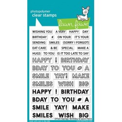 LAWN FAWN STAMPS OFFSET SAYINGS: BIRTHDAY