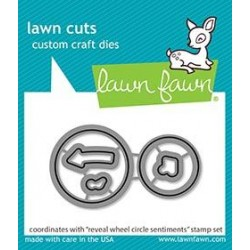 LAWN FAWN CUTS REVEAL WHEEL CIRCLE SENTIMENTS