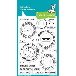 LAWN FAWN STAMPS REVEAL WHEEL CIRCLE SENTIMENTS
