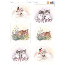 MARIANNE D DECOUPAGE SHEET, MATTIES MOOISTE BABY ANIMALS