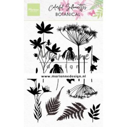MARIANNE DESIGN CLEAR STAMPS Colorful Silhouettes Botanical