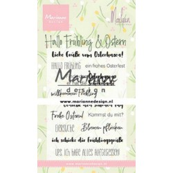 MARIANNE DESIGN CLEAR STAMPS Hallo Frühling & Ostern