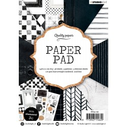 Studio Light Paper Pad A5 BLACK / WHITE 36 sheets 130
