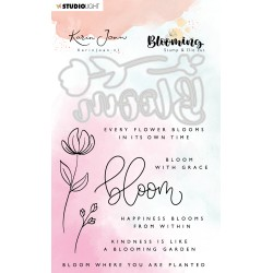 STUDIO LIGHT Karin Joan Collection Blooming - Stamp & Die Cut Set - BASICSDCKJ01