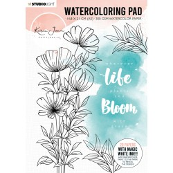 STUDIO LIGHT Karin Joan Collection Blooming - WATERCOLORING PAD