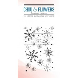 CHOU & FLOWERS TAMPONS CLEAR SOUFFLE D'HIVER FOND FLOCONS