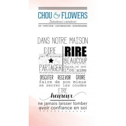CHOU & FLOWERS TAMPONS CLEAR HOME dANS NOTRE MAISON
