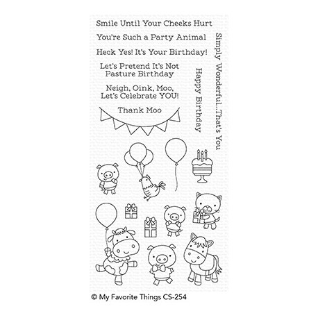 PARTY ANIMALS CLEAR STAMPS