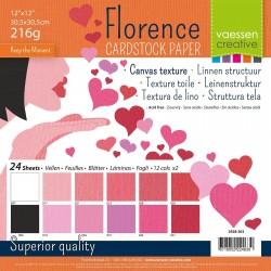 FLORENCE CARDSTOCK -SET VALENTIN 30.5 X 30.5 CM