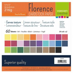 FLORENCE TEXTURE CARDSTOCK MULTIPACK 30,0x30,0cm 216gr