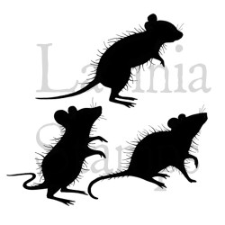 Lavinia Stamps THREE WOODLAND MICE