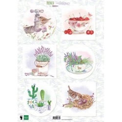 MARIANNE D DECOUPAGE SHEET A4 FRENCH ANTIQUES LAVENDER