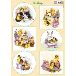 MARIANNE D DECOUPAGE SHEET A4 DUCKLINGS