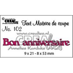Crealies TEXT DIE Français - Bon anniversaire