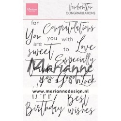 MARIANNE DESIGN CLEAR STAMPS HANDWRITTEN SENTIMENTS