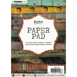 Studio Light Paper Pad A6 GRUNGE 36 sheets , 12 patterns 139