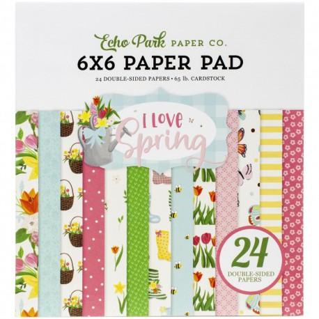 ECHO PARK PAPER I LOVE SPRING PAPER PAD 15x15cm