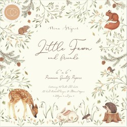 CRAFT CONSORTIUM LITTLE FAWN and FRIENDS PAPER PAD 15 x 15cm