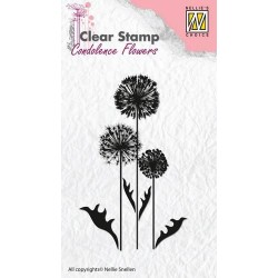 NELLIES CHOICE CLEARSTAMP CONDOLENCE FLOWER 6