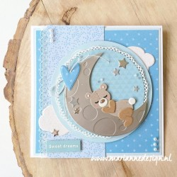 MARIANNE DESIGN CRAFTABLES DREAMING BEAR by Marleen
