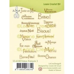 LEANE CREATIEF - LE CREA - CLEAR STAMPS VOEUX FRANCAIS 3