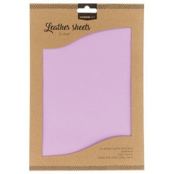 STUDIO LIGHT FAKE LEATHER SHEETS 2x A4 LAVENDER nr. 06