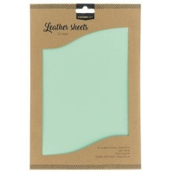 STUDIO LIGHT FAKE LEATHER SHEETS 2x A4 LIGHT TEAL nr. 07